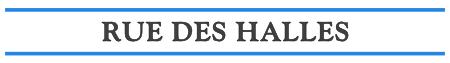 Rue des Halles – Brasserie Logo